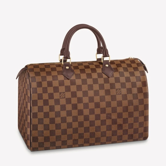 100% Authentic Speedy 35 in Damier Ebene Canvas